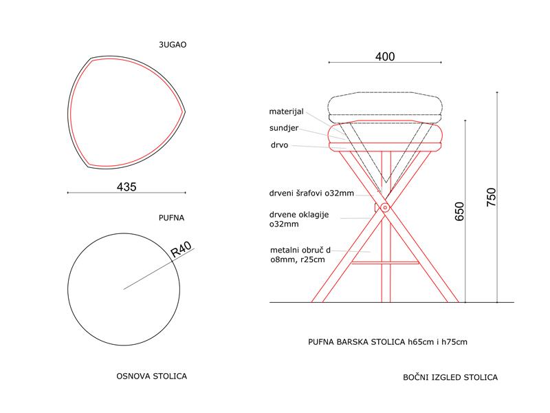 3u/t-Puff bar stool