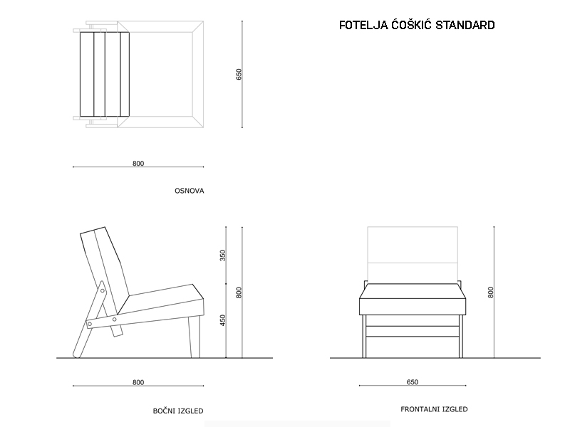 Armchair Angle Standard