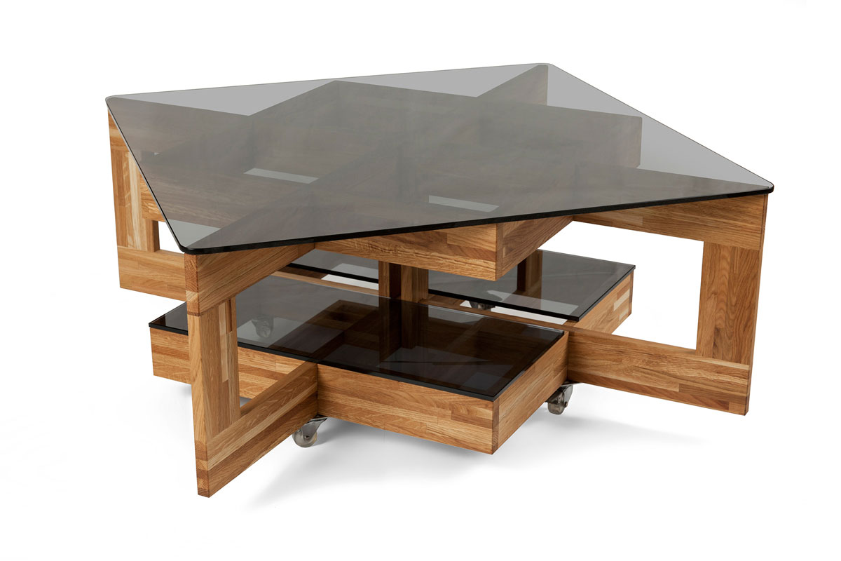 table basse fly verre wenge. Black Bedroom Furniture Sets. Home Design Ideas